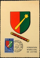 CP. Philatélique ALGERIE 1958 - Fondation Maréchal DE LATTRE - Affr. N° 352 Y & T - Alger Daté Le 20.7.1958 -TBE - Algérie (1924-1962)