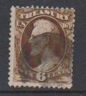 USA 1863 Treasury 6C 1v Used (39381) - 1847-99 Algemene Uitgaves