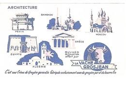 BUVARD  Marque  Alimentaire  LA  VACHE  GROSJEAN  Recto  Verso - Collections, Lots & Séries