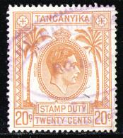 TANGANYIKA - Stamp Dury Used - Kenya, Uganda & Tanganyika