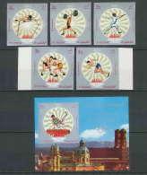 200b Fujeira MNH ** Mi N° 673 / 677 Bloc 53B Non Dentelé (imperforate) Jeux Olympiques (olympic Games) MUNICH 72 Escrime - Sommer 1972: München