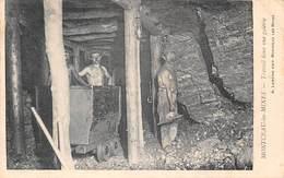 Montceau Les Mines (71) - Travail Dans Une Galerie - Mineur Mineurs - Montceau Les Mines