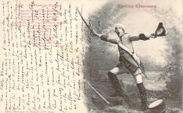 Bergeret - Vieilles Chansons - Fanfan La Tulipe N°5 (cad Perlé Chateau-L'Evêque 1903 Sur Mouchon 10c) - Bergeret