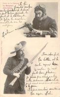 Bergeret -  Fables De La Fontaine - Le Serpent Et La Lime (cad 1902 Ambulant Carcassonne à Toulouse Sur Mouchon 10c) - Bergeret