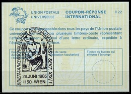 BRIEFMARKENSCHAU JAHR DES WALDES WIEN 1985 On Int. Reply Coupon Reponse IRC IAS Antwortschein La23  ( No. 2 ) - Briefmarkenausstellungen