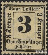 Bavière P3Y Avec Charnière 1870 Etat Emblem - Beieren