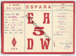 QSL - QTH - Funkkarte - EA-5-DW - Espana - Oliva Valencia - 1955 - Radio Amateur