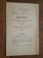 1880 - Amendement Au Projet De Loi - Chemin De Fer Ploermel Et Pontivy Par Josselin, Guérande Vannes La Roche Bernard - Décrets & Lois