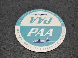 RARE VINTAGE PAN AMERICAN WORLD AIRWAYS CARD COASTER - Portavasos