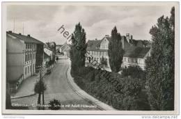 Lieberose - Cottbuserstrasse - Schule Mit Adolf Hitlerplatz - Foto-AK - Verlag Kurt Bellach Guben - Lieberose