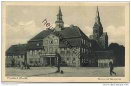 Friedland (Meckl.) Mecklenburg - Rathaus Und Marienkirche - Verlag A. Christann Friedland Gel. 1934 - Friedland