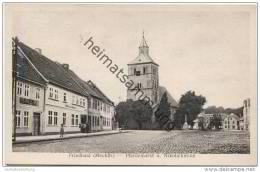 Friedland (Meckl.) Mecklenburg - Pferdemarkt Mit Nikolaikirche - Verlag A. Christann Friedland 30er Jahre - Friedland