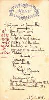 Menu Motif Gauffré - Déjeuner De Fiançailles, Le 9 Juin 1935 - Menus