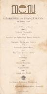 Menu Imprimé - Déjeuner De Fiançailles - 22 Avril 1935 - Guindon, Hôtel De La Paix, Tournus (71) - Menus