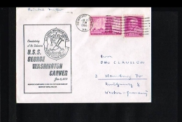 Transport - Submarines - USS George Washington Carver - Cover USA 1966 [JF061] - Duikboten