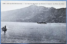 K73A - AIX-les-BAINS -  Lac Du Bourget Et Le Bateau à Vapeur - Dent Du Chat - Aix Les Bains