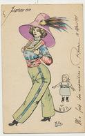 Mille Supreme Chic Femme En Jupe Culotte Apparue à Rouen  Chapeau Tete De Perroquet Parrot - Mille