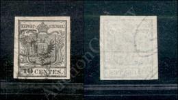 A17-091-A08-2 ANTICHI STATI - LOMBARDO VENETO - 1850 - 10 Cent Grigio Nero (2b - I Tiratura) Con Filigrana - Molto Bello - Stamps