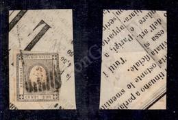 A17-001-A06-40 ANTICHI STATI - MODENA - Governo Provvisorio - Muto A 9 Sbarre Su 1 Cent (19 - Sardegna) Su Frammento Di  - Stamps