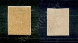 A17-102-A08-35 ANTICHI STATI - PARMA - 1853 - 5 Cent Giallo Arancio (6) Nuovo Senza Gomma - Tre Ottimi Margini Ma Corto  - Stamps