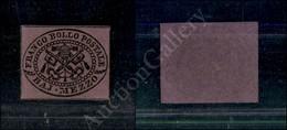 A17-107-A08-48 ANTICHI STATI - PONTIFICIO - 1852 - Mezzo Baj Lilla Vivo (1e) - Senza Gomma (500) - Stamps