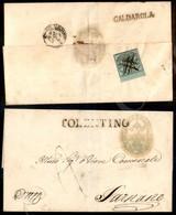 A17-109-A08-50 ANTICHI STATI - PONTIFICIO - 1 Baj Verde Grigiastro (2) Bordo Foglio Annullato A Penna - Al Retro Di Lett - Stamps