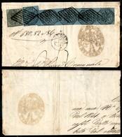 A17-110-A08-51 ANTICHI STATI - PONTIFICIO - 1 Baj + Striscia Di Quattro Più Uno Del 7 Baj (2+8) Su Frammento Da Ferrara  - Stamps