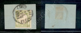 A17-095-A08-21 ANTICHI STATI - PROVINCIE NAPOLETANE - 1861 - Mezzo Tornese Verde Giallo (17e) Su Frammento (550) - Stamps