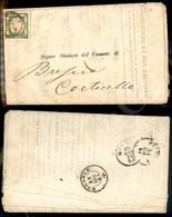A17-097-A08-23 ANTICHI STATI - PROVINCIE NAPOLETANE - Mezzo Tornese Verde Smeraldo (17d) Appena Corto In Basso Su Circol - Stamps