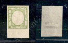 A17-098-A08-24 ANTICHI STATI - PROVINCIE NAPOLETANE - 1861 - Prove - Mezzo Tornese Verde Giallo Chiaro (17ala) Senza Eff - Stamps