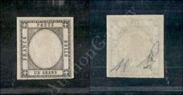 A17-099-A08-26 ANTICHI STATI - PROVINCIE NAPOLETANE - 1861 - 1 Grano Grigio Scuro (19a) Nuovo Con Gomma - Molto Bello -  - Stamps