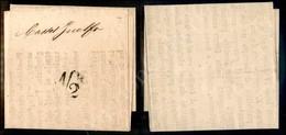 """A17-114-A08-61 ANTICHI STATI - ROMAGNE - Governo Provvisorio - 1/2 A Tampone Su Manifesto """"Programma Elettorale"""" Da Bolo - Stamps"""