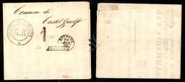 A17-116-A08-63 ANTICHI STATI - ROMAGNE - Governo Provvisorio - 29 Agosto 1859 - Medicina + 1 A Tampone Su Parte Di Manif - Stamps