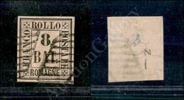A17-117-A08-68 ANTICHI STATI - ROMAGNE - 1859 - 8 Bai Rosa (8) - Ottimi Margini - Piccolo Assottigliamento Al Retro Dell - Stamps