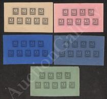 A17-118-A08-69 ANTICHI STATI - ROMAGNE - 1859 - Ristampe - I 9 Valori Su 5 Foglietti Di Colori Diversi - Bellissimo Insi - Stamps