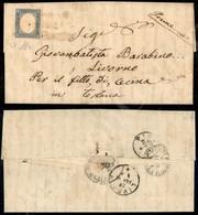 A17-123-A08-79 ANTICHI STATI - SARDEGNA - Pievepelago (rossastro Acquoso - Pt.9) - 20 Cent Azzurro Chiaro (15D) Su Lette - Stamps