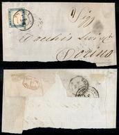 A17-359-A14-0094 ANTICHI STATI - SARDEGNA - 20 Cent (15) - Parte Di Lettera Da Tortona A Torino Del 7.8.56 - Stamps