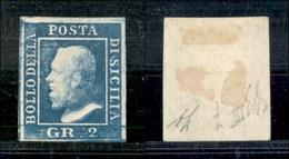 A17-361-A14-0138 ANTICHI STATI - SICILIA - 1859 - 2 Grana (8 - Pos.8) - Diena (350) - Stamps
