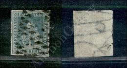 A17-125-A08-103 ANTICHI STATI - TOSCANA - 1851 - 2 Crazie Azzurro Verdastro Su Grigio (5e) - Margini Molto Grandi Con Pa - Stamps