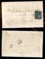 A17-126-A08-104 ANTICHI STATI - TOSCANA - 2 Crazie Azzurro Verdastro (5e) Su Lettera Da Ponte A Sieve (pt.11) A Lari Del - Stamps