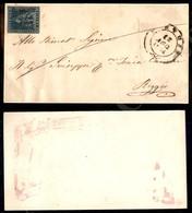 A17-129-A08-107 ANTICHI STATI - TOSCANA - PD (rosso - Pt. 6) Di Pistoia - 6 Crazie Azzurro (7d) Su Frontespizio Di Lette - Stamps