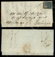 A17-130-A08-109 ANTICHI STATI - TOSCANA - Governo Provvisorio - 2 Crazie Azzurro (13) Appena Corto In Alto - Lettera Da  - Stamps