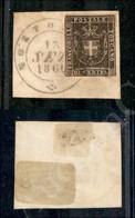 A17-131-A08-116 ANTICHI STATI - TOSCANA - 1860 - 10 Cent Bruno (19) Su Frammento Da Montopoli (pt.12) - Ben Marginato (1 - Stamps