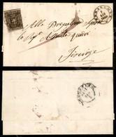 A17-132-A08-117 ANTICHI STATI - TOSCANA - Terranova (Pt.8) - 10 Cent Bruno (19) Bordo Foglio In Alto Con Riga Di Colore  - Stamps