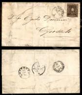 A17-133-A08-118 ANTICHI STATI - TOSCANA - 10 Cent Bruno (19) Su Lettera Da Firenze A Grosseto Del 27.6.61 - Molto Bella  - Stamps