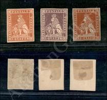 A17-134-A08-121 ANTICHI STATI - TOSCANA - Ristampe - 3 Valori Delle Due Diverse Emissioni - Nuovi Senza Gomma - Stamps