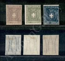 A17-135-A08-122 ANTICHI STATI - TOSCANA - Ristampe - 3 Valori Del Governo Provvisorio - Nuovi Senza Gomma - Stamps