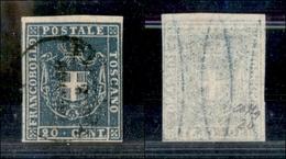 A17-362-A14-0159 ANTICHI STATI - TOSCANA - 1860 - 20 Cent Azzurro (20) - Molto Bello - Colla (300) - Stamps