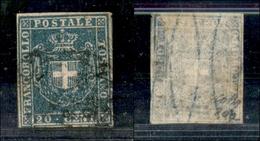 A17-363-A14-0160 ANTICHI STATI - TOSCANA - 1860 - 20 Cent Azzurro Chiaro (20a) - Colla (350) - Stamps