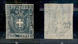 A17-364-A14-0162 ANTICHI STATI - TOSCANA - 1860 - 20 Cent Azzurro Grigio (20b) - Molto Bello - Colla (350) - Stamps